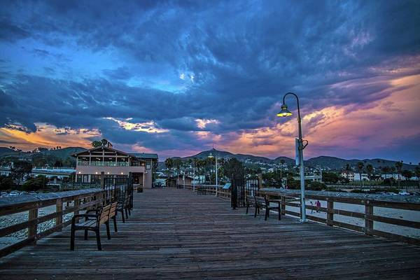 Photograph - Stormy Skies Over The Pier by Lynn Bauer