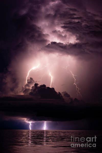 Lightning Bolt Photograph - Stormy Sky by Quinn Sedam