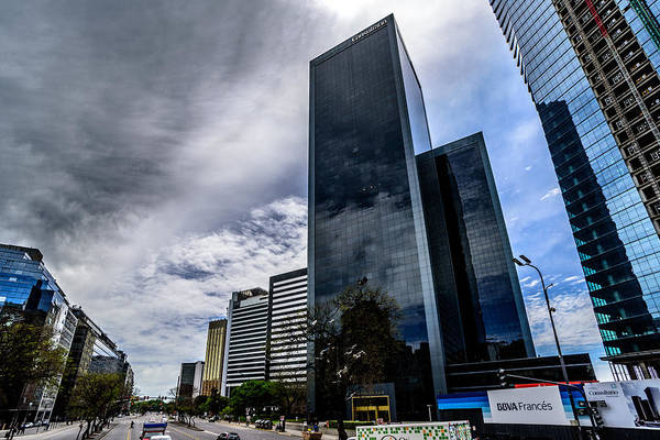 Photograph - Stormy Skyscrapers by Randy Scherkenbach