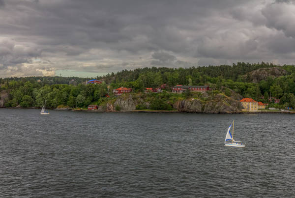 Photograph - Stormy Stockholm Archipelago Sailing by Clare Bambers