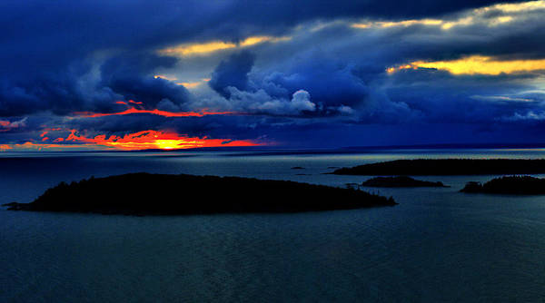 Wall Art - Photograph - Stormy Sunrise In Marquette by Matthew Winn