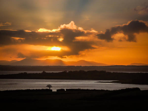Photograph - Stormy Sunrise Over Ireland's Shannon Estuary by James Truett