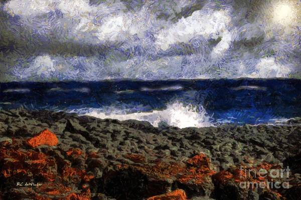 Painting - Stormy Sunrise by RC DeWinter