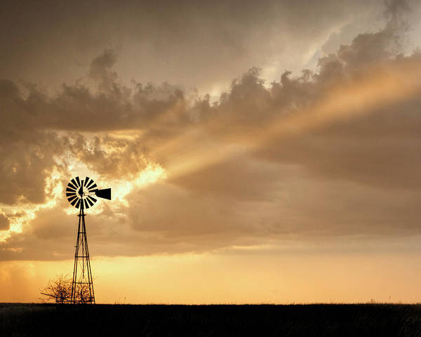 Photograph - Stormy Sunset And Windmill 02 by Rob Graham