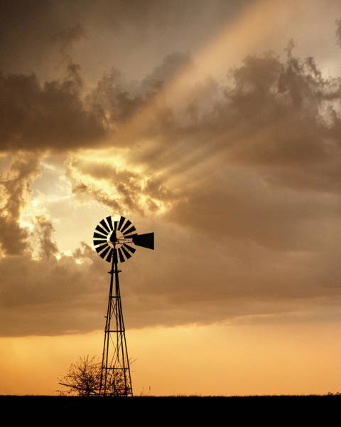 Photograph - Stormy Sunset And Windmill 04 by Rob Graham