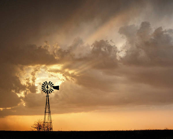 Photograph - Stormy Sunset And Windmill 05 by Rob Graham