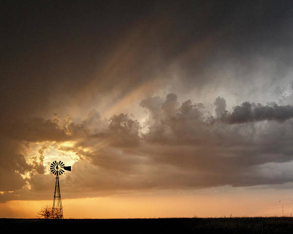 Photograph - Stormy Sunset And Windmill 06 by Rob Graham