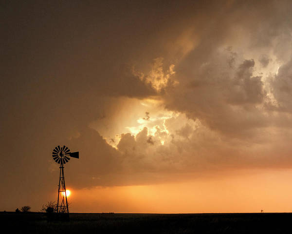Photograph - Stormy Sunset And Windmill 08 by Rob Graham