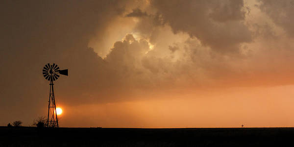 Photograph - Stormy Sunset And Windmill 09 by Rob Graham