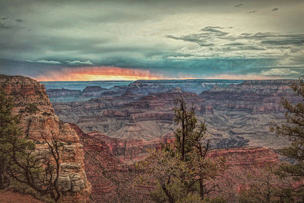 Photograph - Stormy Sunset At The Canyon by John M Bailey