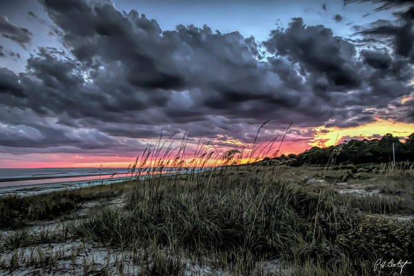 South Beach Digital Art - Stormy Sunset On Hilton Head by Phill Doherty