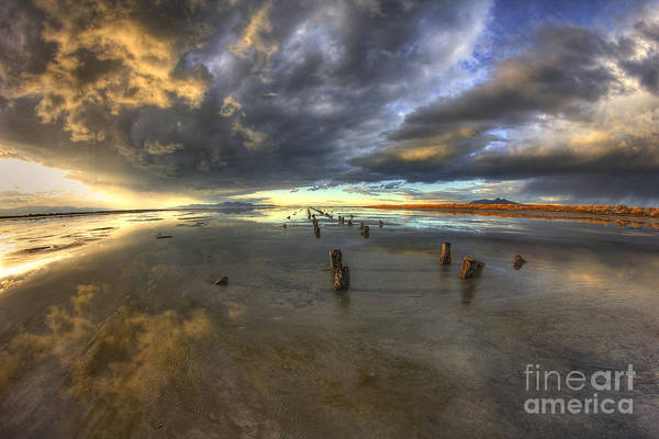 Photograph - Stormy Sunset by Spencer Baugh