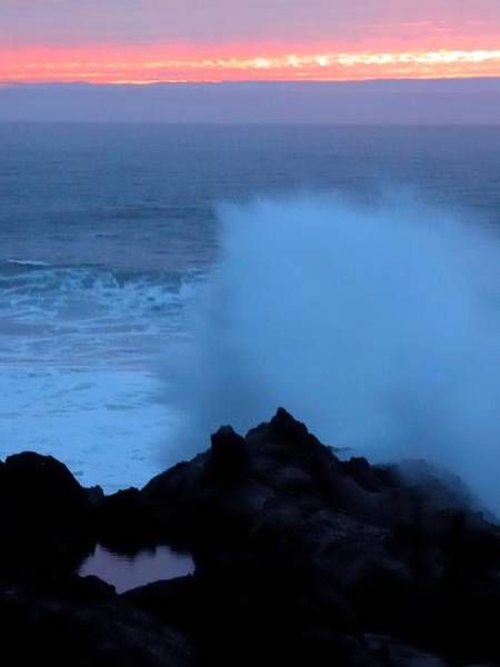 Photograph - Stormy Sunset Surf 2042 by Jerry Sodorff
