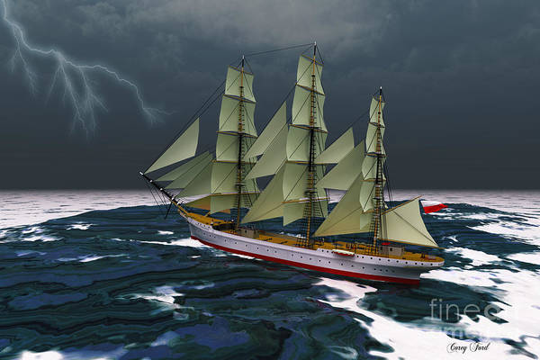 Rudder Painting - Stormy Weather by Corey Ford