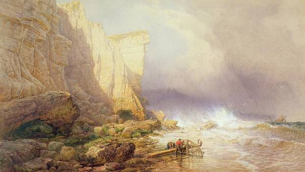 Devon Painting - Stormy Weather by John Mogford