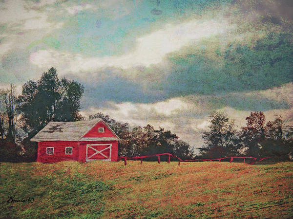Digital Art - Stormy Weather On The Farm by Bonnie Willis