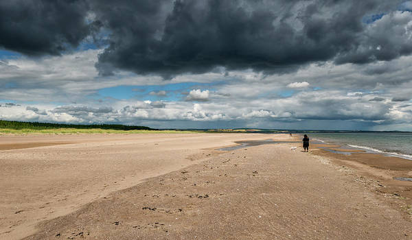 Photograph - Stormy Weather Over The Beach In Scotland by Jeremy Lavender Photography