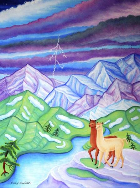 Painting - Stormy Weather by Tracy Dennison