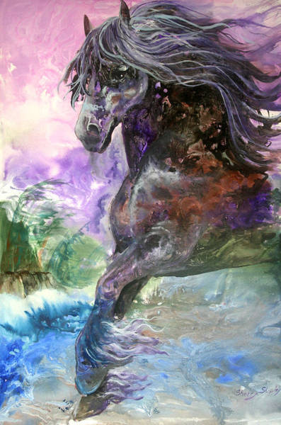 Painting - Stormy Wind Horse by Sherry Shipley