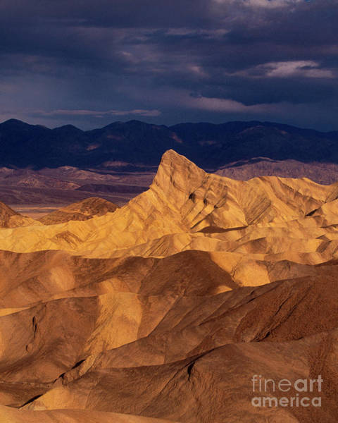 Photograph - Storn Clouds Zabriski Point Death Valley National Park California by Dave Welling