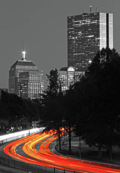 Photograph - Storrow Drive Headlights by Juergen Roth