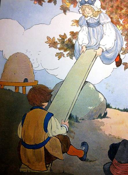 Mother Goose Drawing - Story Land by Lord Frederick Lyle Morris - Disabled Veteran