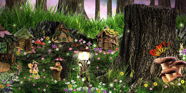 Digital Art - Story Time In The Fairy Forest by Artful Oasis