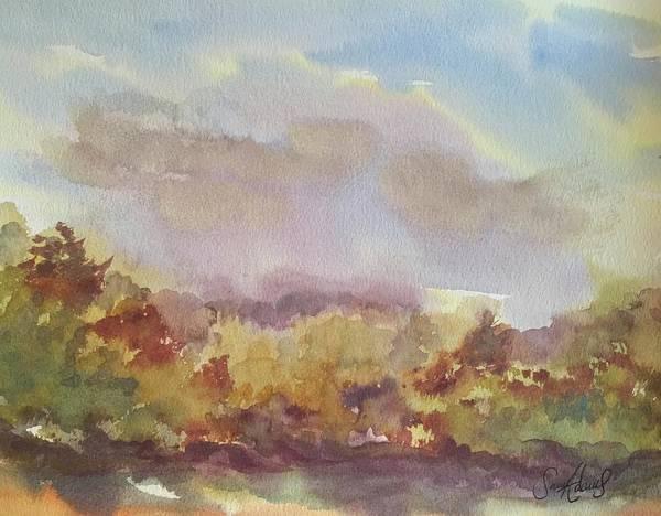 Stourhead Wall Art - Painting - Stourhead Woods by Samantha Adams