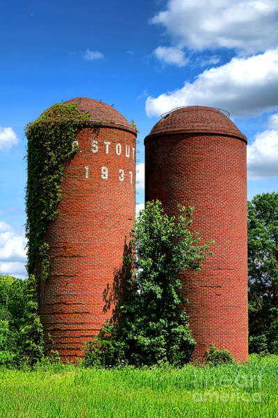 Silo Wall Art - Photograph - Stout 1931 by Olivier Le Queinec