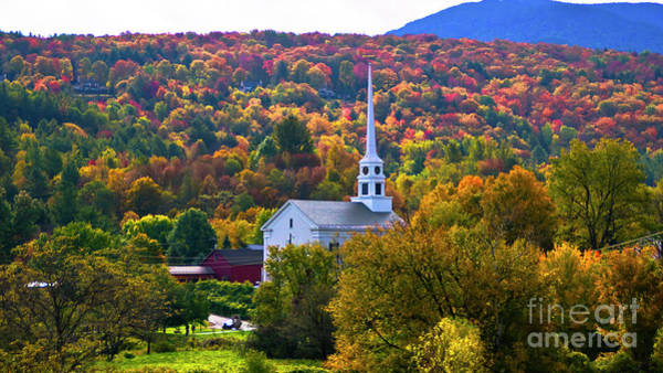 Photograph - Stowe Community Church by Scenic Vermont Photography