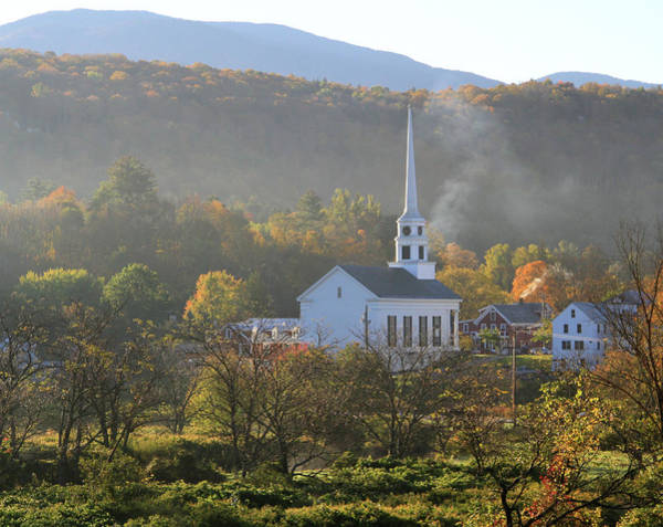 Photograph - Stowe Community Church Vermont by Dan Sproul