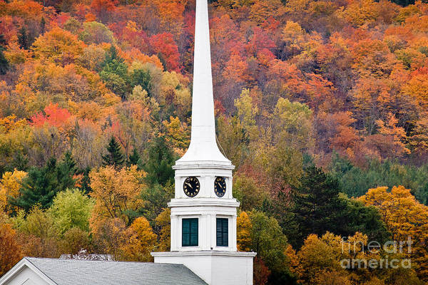 Photograph - Stowe Steeple by Susan Cole Kelly