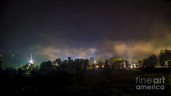 Stowe Vermont After Dark. Art Print