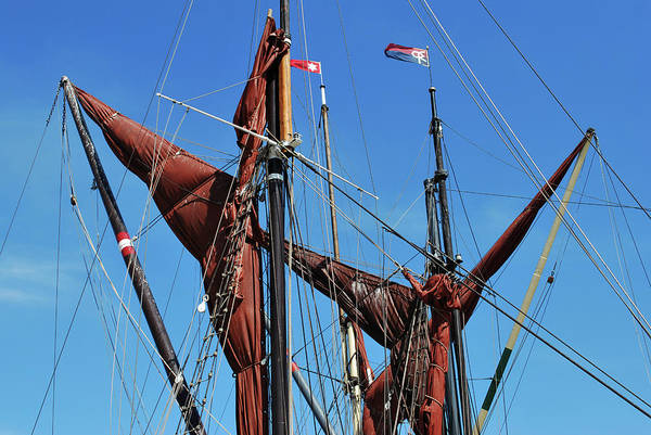 Wall Art - Photograph - Stowed Sails. by Terence Davis