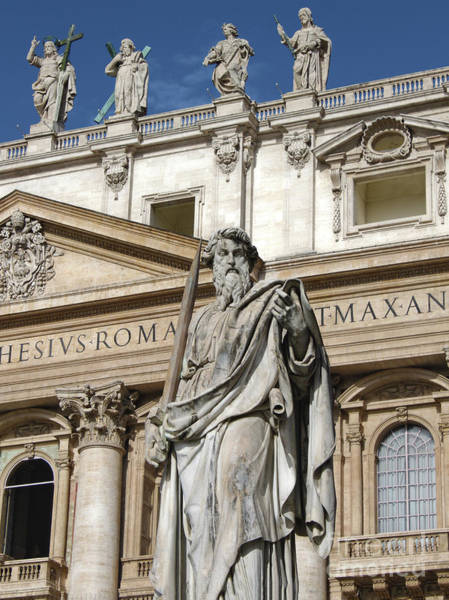 Photograph - St.peter Statue At The Vatican by Gregory Dyer