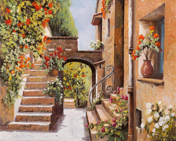 Shadow And Light Painting - stradina di Cagnes by Guido Borelli