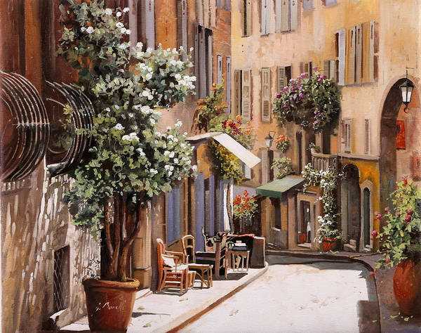 Wall Art - Painting - stradina di Grasse by Guido Borelli