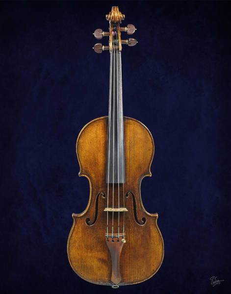 Photograph - Stradivarius Violin Front by Endre Balogh