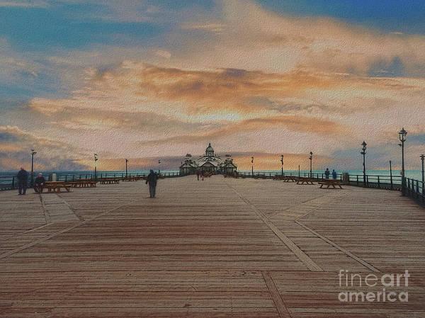 Digital Art - Straight Down The Pier  by Leigh Kemp