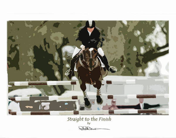 Straight To The Finish Art Print
