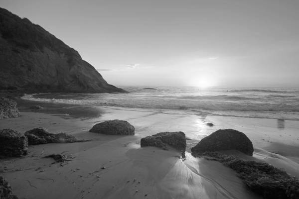 Photograph - Strand Beach Black And White by Cliff Wassmann