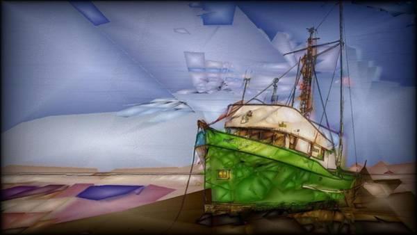 Photograph - Stranded Boat by Jon Glaser