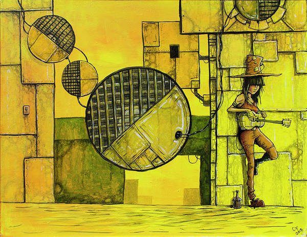 Wall Art - Painting - Stranded On The Sun by Chase Fleischman