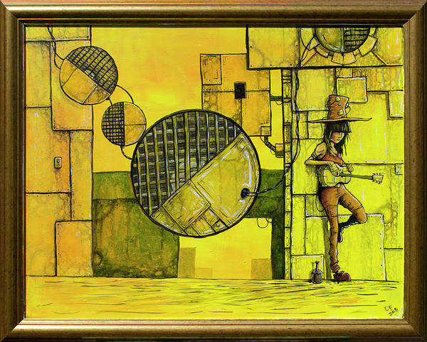 Wall Art - Painting - Stranded On The Sun Framed Version by Chase Fleischman