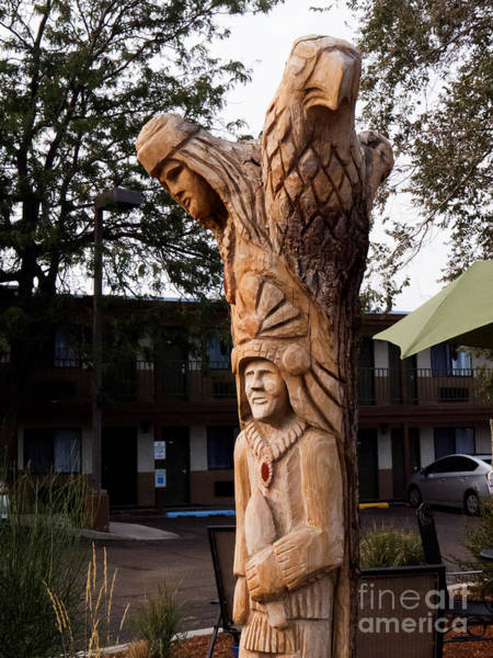 Photograph - Strange Ethnic Chainsaw Sculpture. by Brenda Kean