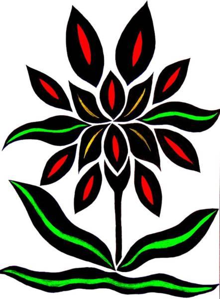 Drawing - Strange Flower by Beth Akerman