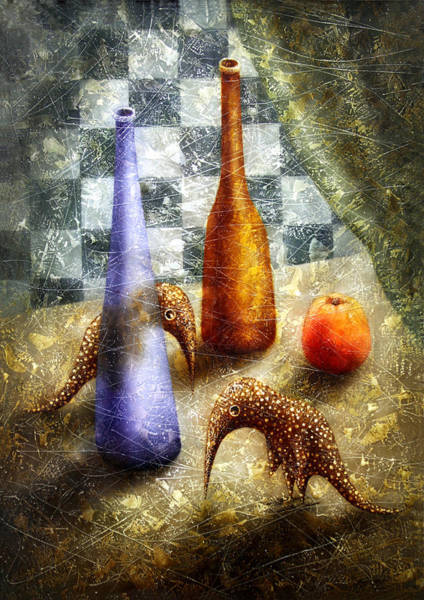 Wall Art - Painting - Strange Games On The Table by Lolita Bronzini