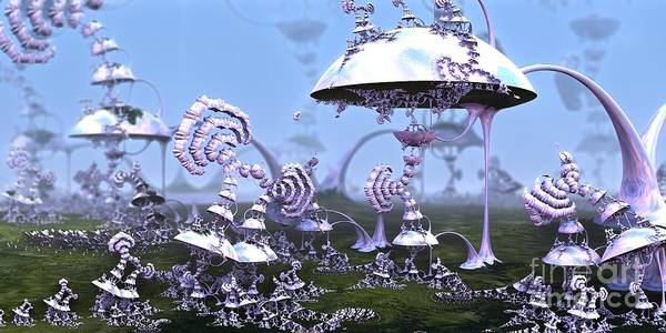 Digital Art - Strange World by Jon Munson II