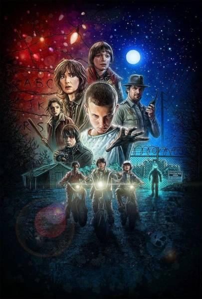 Wall Art - Digital Art - Stranger Things Poster 2016 by Geek N Rock