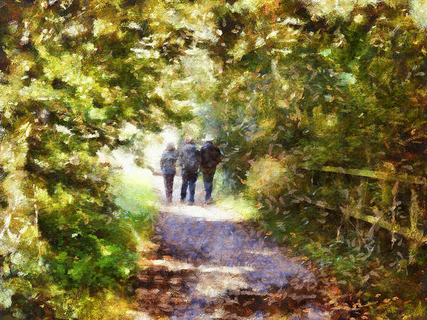 Photograph - Strangers On A Footpath / In To The Light by Leigh Kemp